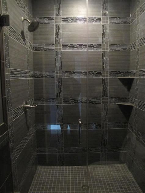 glass tile shower contemporary tile chicago