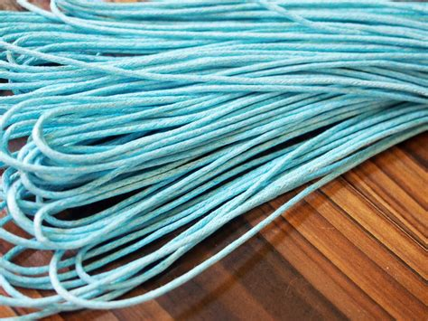 buy wax cord sky blue  craft supplies mm sky blue good quality wax cotton rope strand