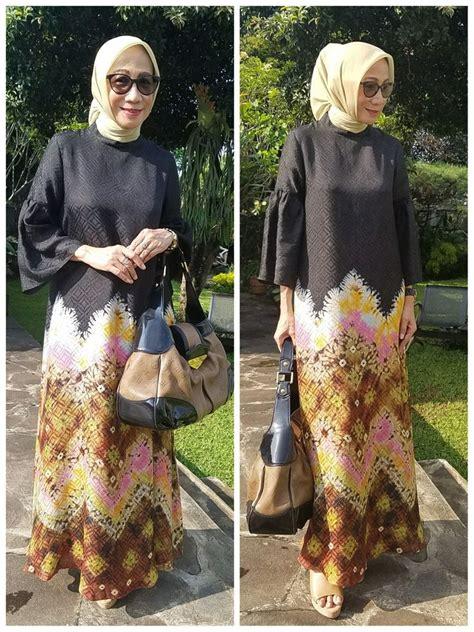 abaya jumputan palembang  sekar satari model baju