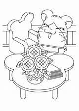 Hamtaro sketch template