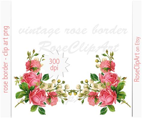 Floral Border Clip Pink Clipart Flower Border Pencil And In Color Pink