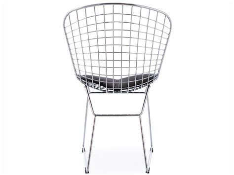 bertoia wire side chair black