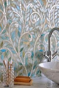 Bathroom Iridescent Mosaic Tile