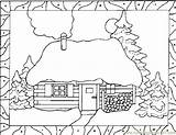 Coloring Snow Pages Fall Houses Printable Blower Coloringpages101 Template sketch template