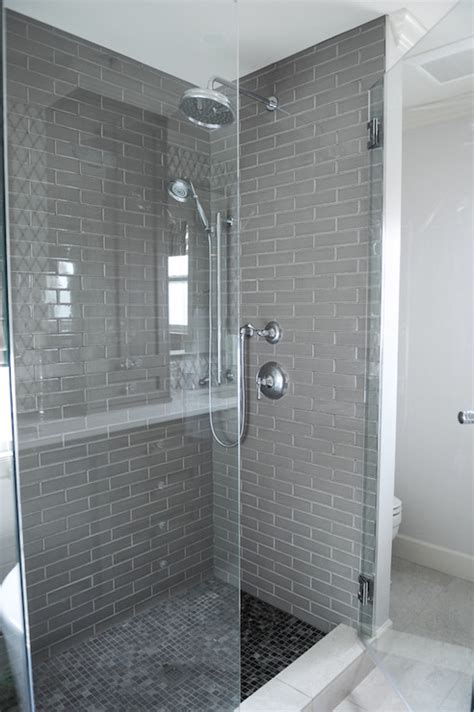 gray bathroom tile ideas grey subway tile contemporary bathroom shelter