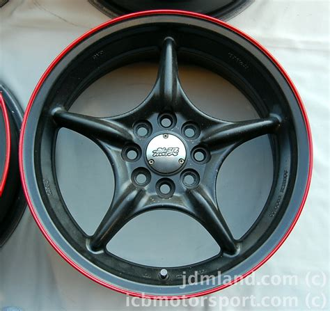 MUGEN WEAPON RNR (BLACK) 15x6.5 4X100 +38 offset - SOLD