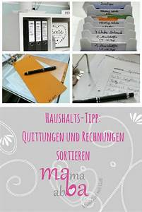 Kleiderschrank Sortieren Tipps : haushalts tipp quittungen und rechnungen sortieren rechnung sortieren und tipps ~ Markanthonyermac.com Haus und Dekorationen