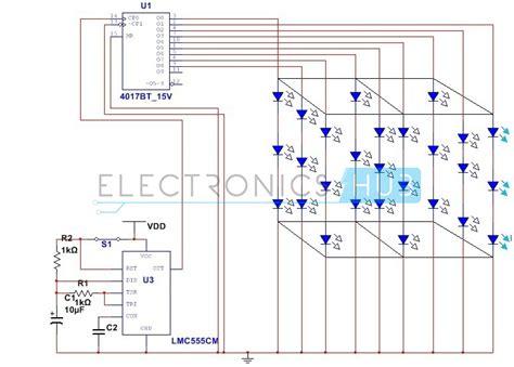 xx led cube circuit   microcontroller