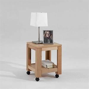 Beistelltische Holz : beistelltisch zigaro aus kernbuche mit rollen ~ Pilothousefishingboats.com Haus und Dekorationen