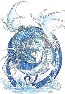 Chinese Water Dragon Drawings