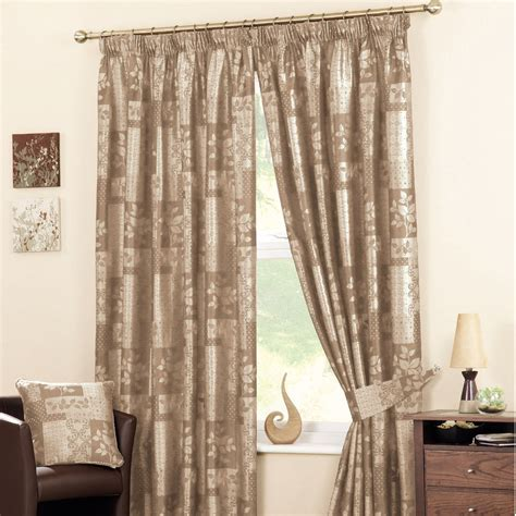 Winchester Natural Pencil Pleat Ready Made Curtains