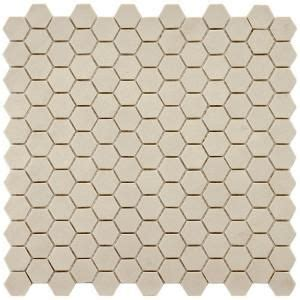 merola tile old world hex antique white 12 in x 11 3 4 in