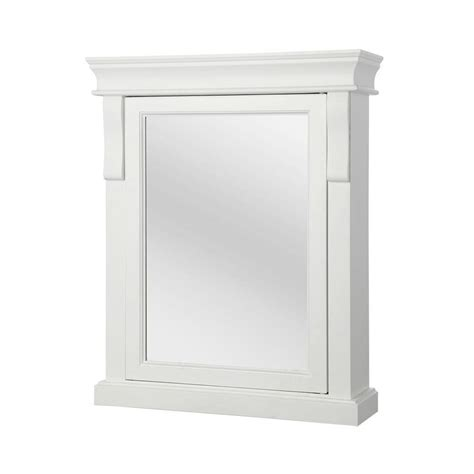 white medicine cabinet foremost naples 25 in w x 31 in h x 8 in d framed