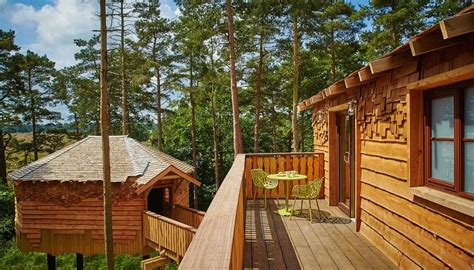 luxury treehouse holidays  breaks hot tub games room center parcs