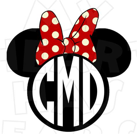 minnie mouse monogram monogram minnie mouse ears heads personalized initials