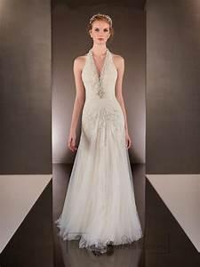 beaded helter v neck sheath wedding dresses with low open With sheath wedding dress low back