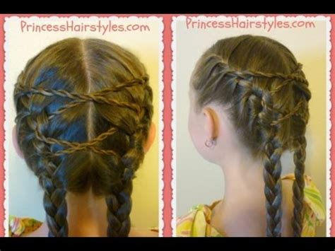 criss cross french braids hairstyle hairmyprincess youtube