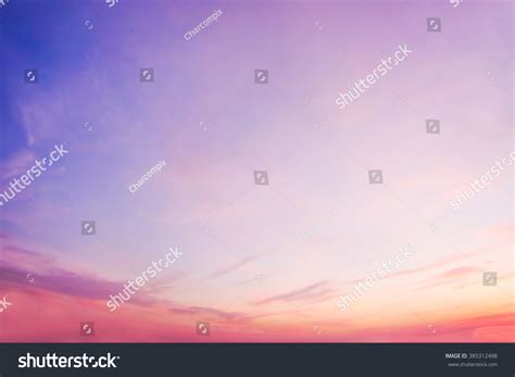 Pastel Gradient Blurred Sunset Background Sky Stock Photo