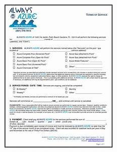 10 best images of service agreement form template free for Pool service contract template