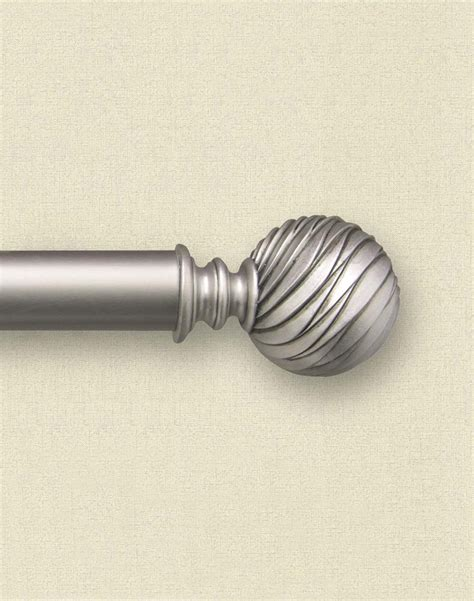 decorative curtain rods odeon pewter adjustable decorative curtain rod 1 1 4