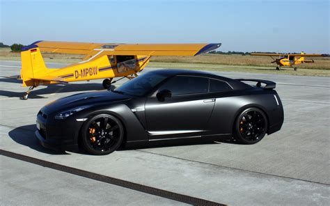 Aircraft Black Yellow Cars Nissan Side View Nissan Skyline