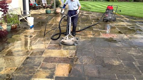 power washing  large yorkstone patio  pontefract west