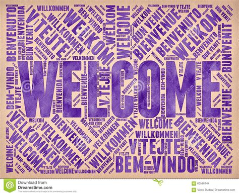 Welcome stock illustration. Illustration of background ...