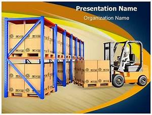 Warehouse Forklift PowerPoint Template Background ...