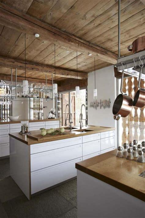 cuisine maison bois ophrey com cuisine blanche dans chalet prélèvement d