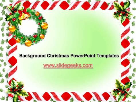 Microsoft Powerpoint Background Christmas Cookies