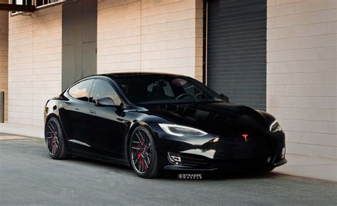 Model S P100d by Tesla Model S P100d Gets Sinister Black Treatment From