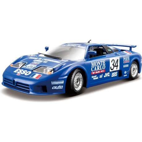 Bugatti eb 110 lm on track at the 1994 24 hours of le mans the brabus eb 110 is a modified version of the eb 110 super sports by german automotive tuning company brabus. Bugarti Bugatti EB 110 Le Mans 1994 1:24 blau - Profimodel.cz
