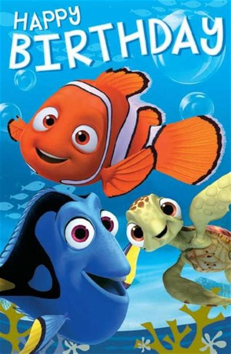 finding nemo birthday card finding nemo finding dory