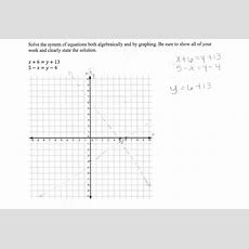 Solving A System Of Equations 2