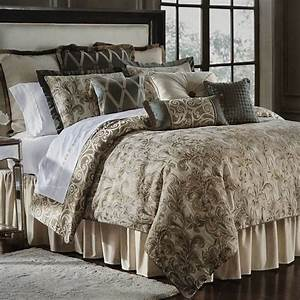 Waterford, Linens, Anora, Jacquard, 4, Piece, Queen, Comforter, Set