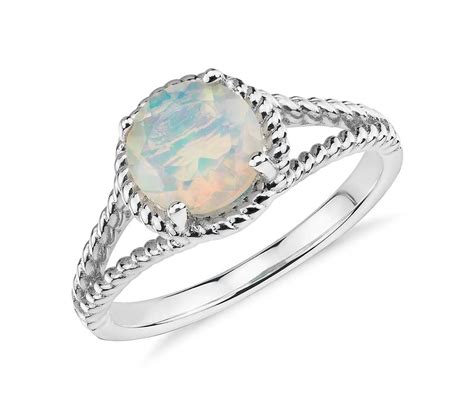 Opel Ring by Opal Rope Ring In Sterling Silver 7mm Blue Nile