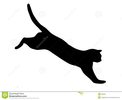 Cat jumping stock illustration. Image of wildlife, jaguar ...