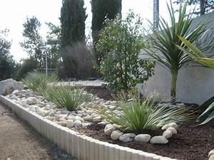 amenagement jardin avec gravier 10 bordure galets et With amenagement jardin avec gravier