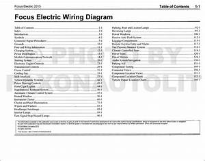 2015 Ford Focus Electric Wiring Diagram Manual Original