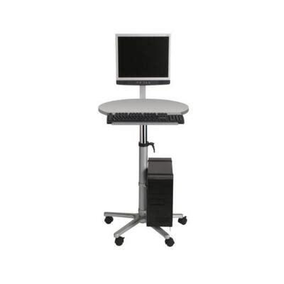 poste de travail statique r 233 glable assis debout avec bras 233 cran plat gris mobilier de bureau