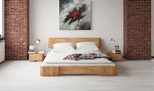 Lit Bois Massif Design : lit en h tre mezzo meubles pour chambre coucher haut de gamme en bois naturel ~ Teatrodelosmanantiales.com Idées de Décoration