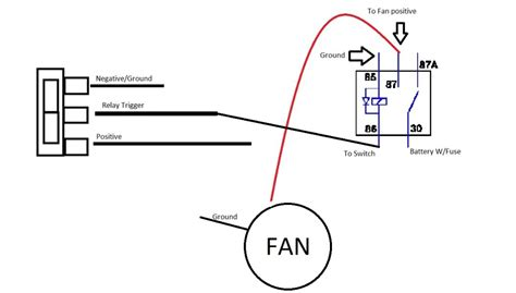 Neg Relay Switch Wiring Diagram by 1g Fan Wiring With Switch And Relay Dsmtuners