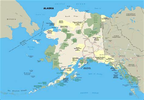 large national parks map  alaska state alaska state