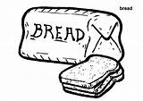 Bread Coloring Pages Wheat Colouring Loaf Printable Breads Print Grains Template Meatloaf Clipart Find Sketch Clip Getcolorings Colorings Tocolor sketch template