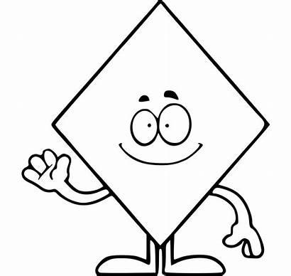 Shapes Coloring Shape Diamond Pages Printable Funny