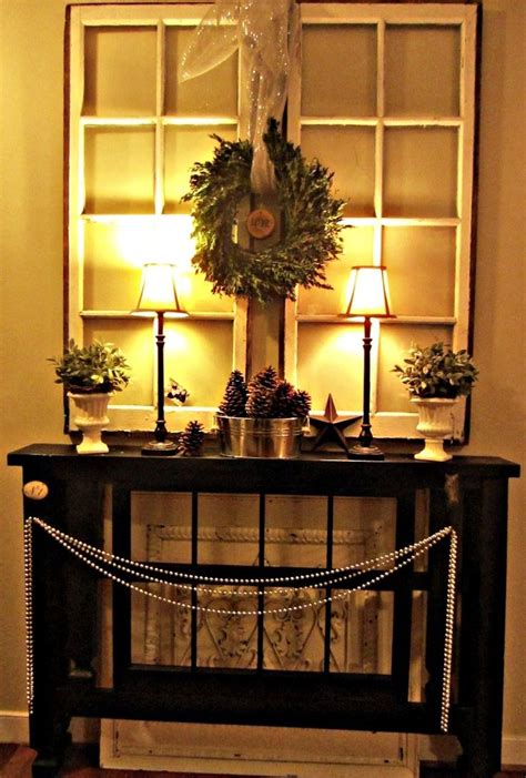 ideas  christmas entryway  pinterest