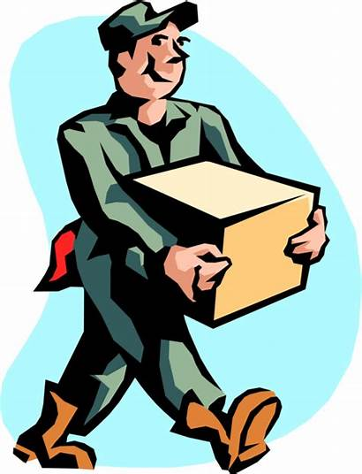 Mover Box Receiving Shipping Clipart Carrying Illustration