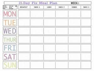 7 Day Meal Planner Template Business Letter Template