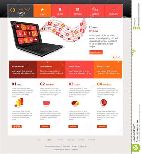 design template website template design stock vector illustration of navigation 34949032
