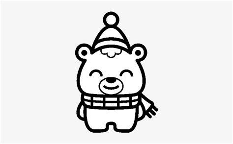 christmas  bear coloring page dibujos de navidad kawaii  colorear transparent png